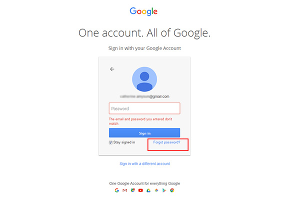 How do i recover my google account number