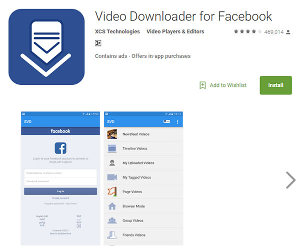 Video Downloader til Facebook