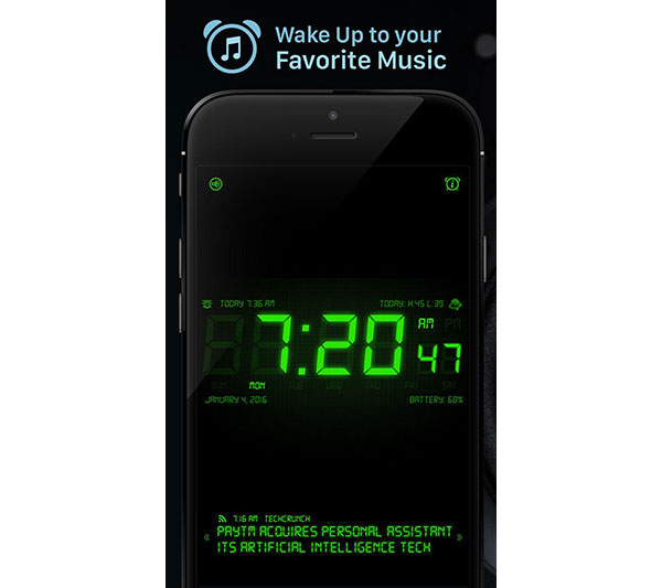 20 best free alarm clock apps for android and ios device. Black Bedroom Furniture Sets. Home Design Ideas
