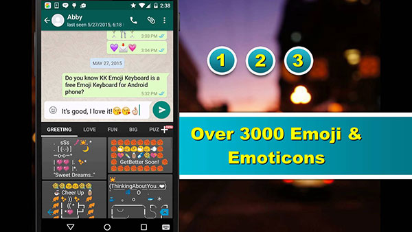 Emoticon di Emoji Keyboard by Kk