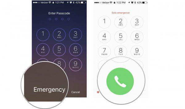 Use la llamada de emergencia