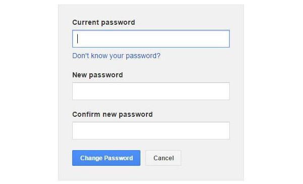 Ändra lösenord