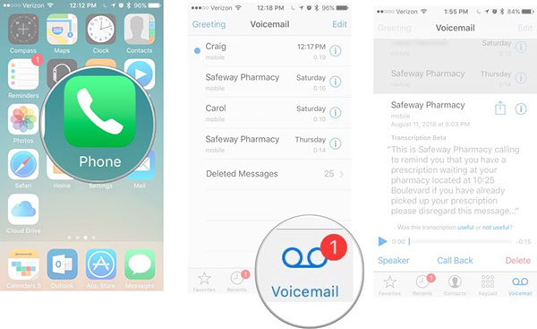 Change Default Voicemail
