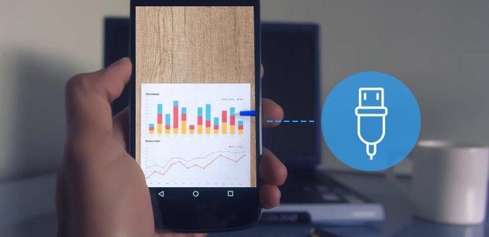 Slut et USB-flashdrev til Android