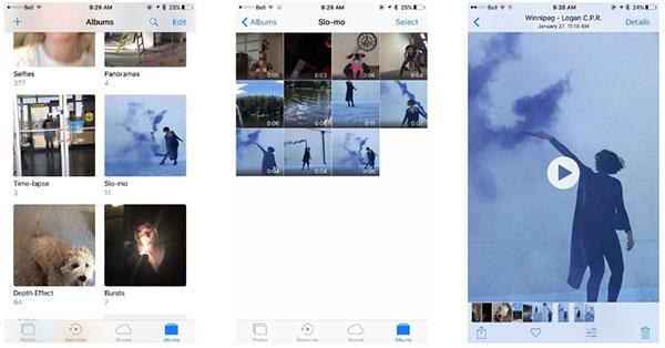 Fotoalbum genererade i iPhone