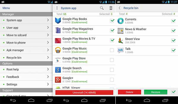 Radera Apps på Samsung