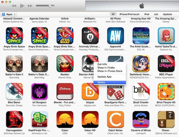 rena apps med iTunes