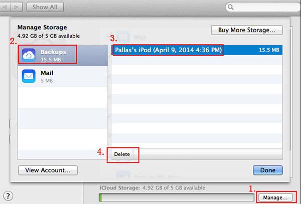 Smazat iCloud na Macu