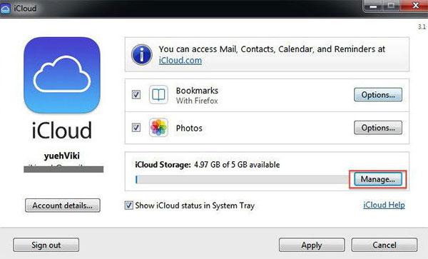 Διαγράψτε το iCloud στον Η / Υ