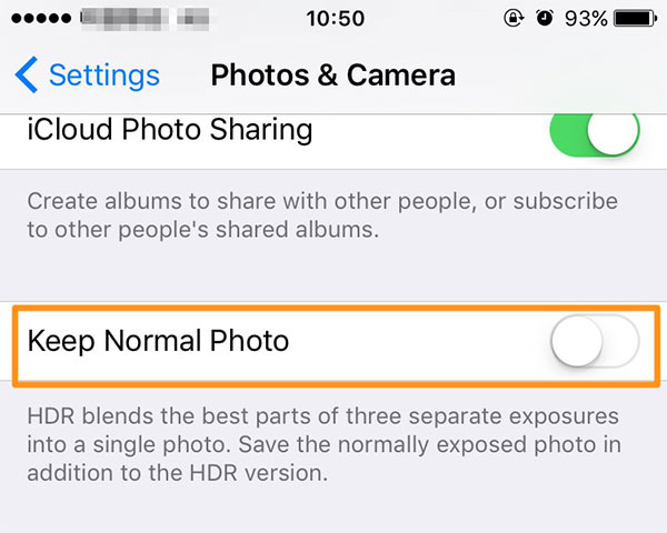 Stocker des photos HDR