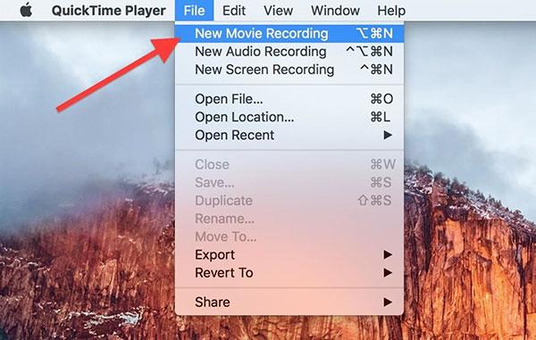 Grabación de la pantalla de inicio en Mac