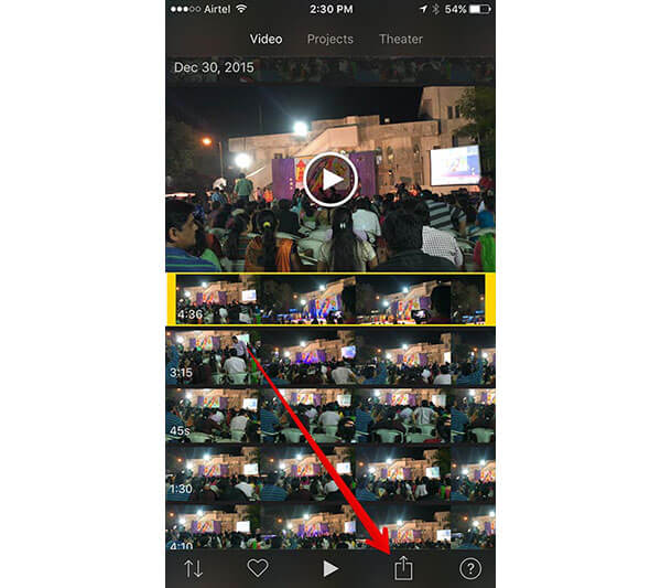 Top 3 methods on how to rotate video on iphone how to rotate a video on iphone with imovie for ios ccuart Gallery