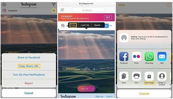 Copy instagram photos to Camera Roll