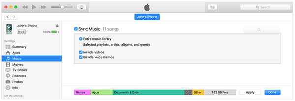 how to download music from itunes to iphone