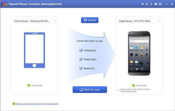 Összes adat átvitele Androidról Androidra
