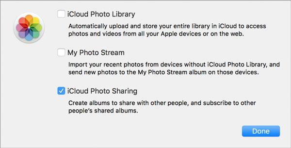 Aseta iCloud-valokuvien jakaminen