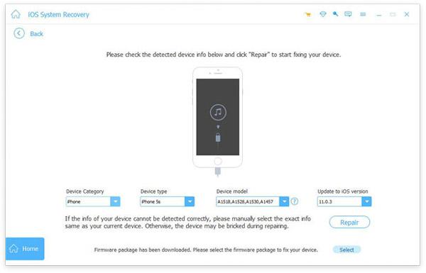 Ellenőrizze az iOS-információkat