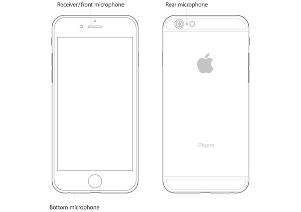 Teste o microfone do iPhone