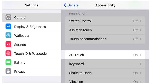 Justera 3D Touch Sensitivity