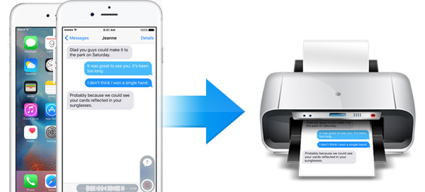 Print the extracted text  messages from iPhone