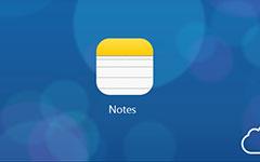 Accéder aux notes iCloud