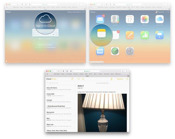 Přístup k Apple poznámkám na iCloud