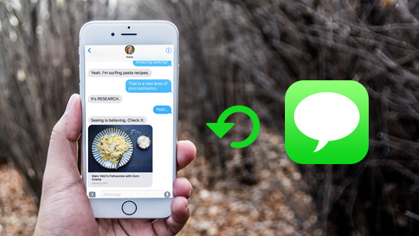 Obnovit odstraněný iMessage z iPhone / iPad / iPod