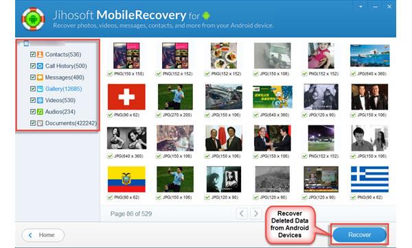 Jihosoft Androidの電話の回復