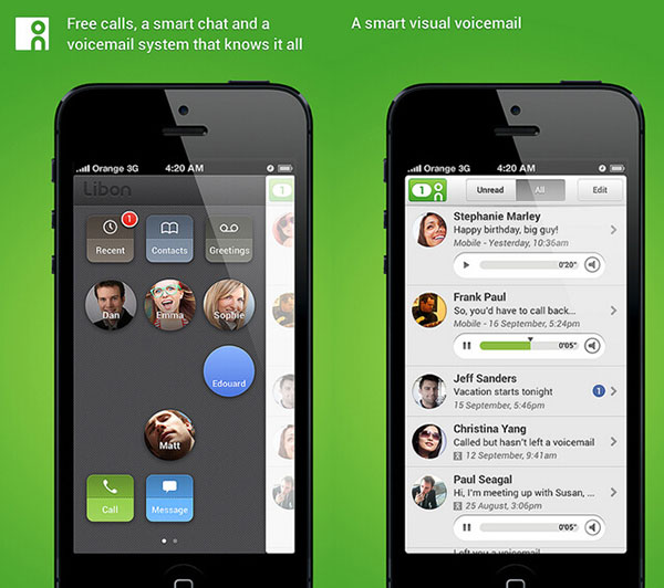 Brug af visuel voicemail