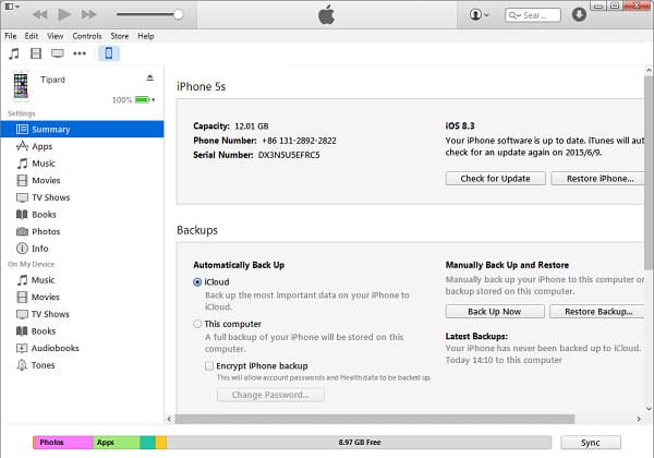apps overdragen door iTunes
