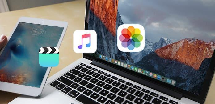 Överför fil mellan iPad och Mac