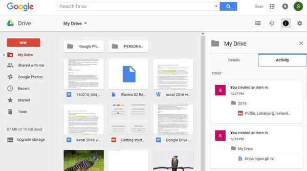 في Google Drive