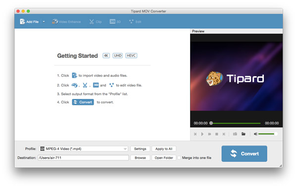 Tipard MOV Converter for Mac 3.6.18