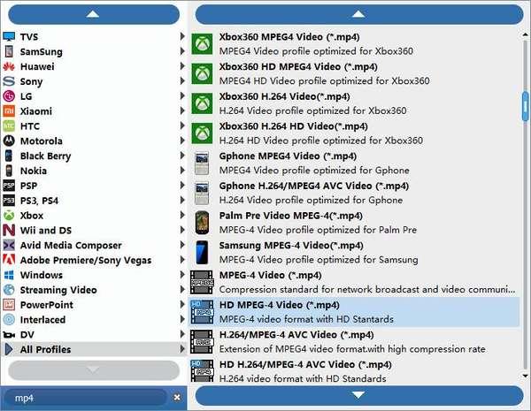 Välj mp4-utdatafil