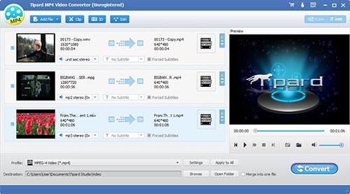 Tipard MP4 Video Converter Screen shot