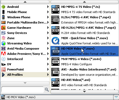 How to Convert MTS/Mod/Tod to AVI/3GP/WMV/FLV/MP4/MPG etc Profile-mov