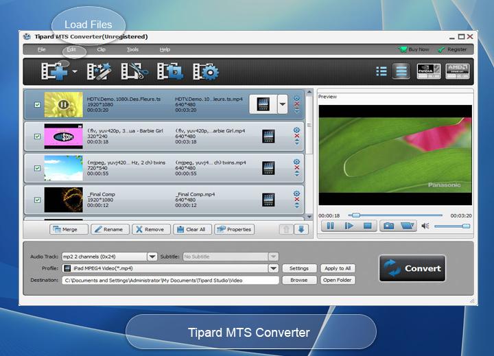 MTS Converter – Convert MTS to M4V, MP4, WMV,MKV, etc