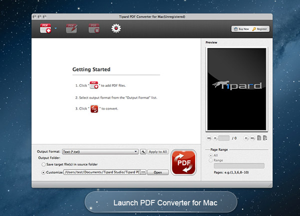 Tipard PDF Converter for Mac full screenshot