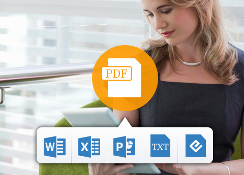 Converti formati PDF in documenti