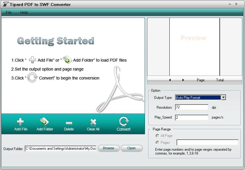 Click to view Tipard PDF to SWF Converter screenshots