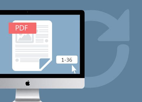 Gratis PDF-paginabereik selecteren