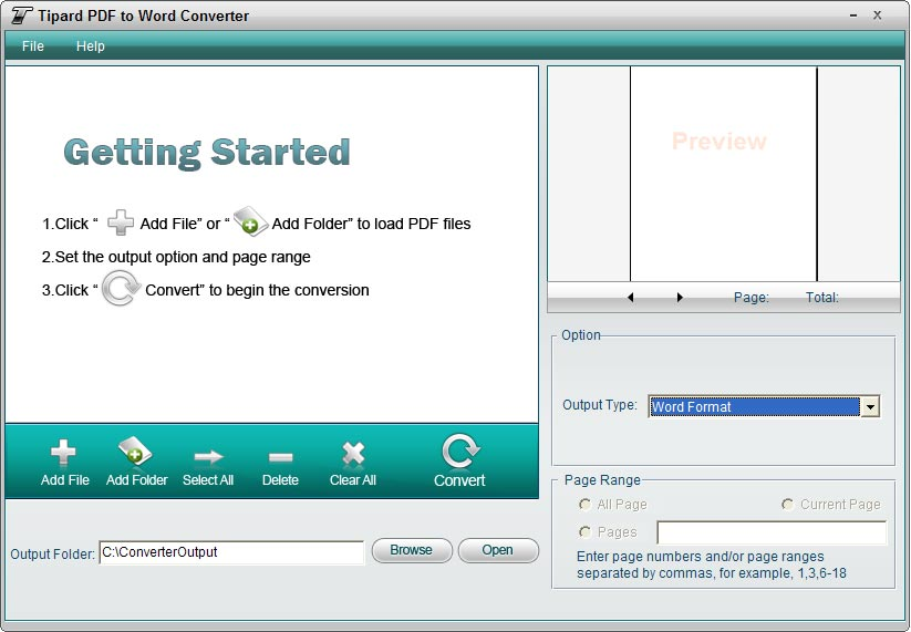 Tipard PDF to Word Converter Tool screenshot