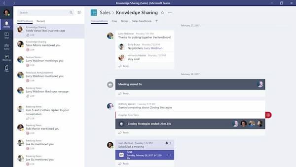 Interfejs zespołu Microsoft