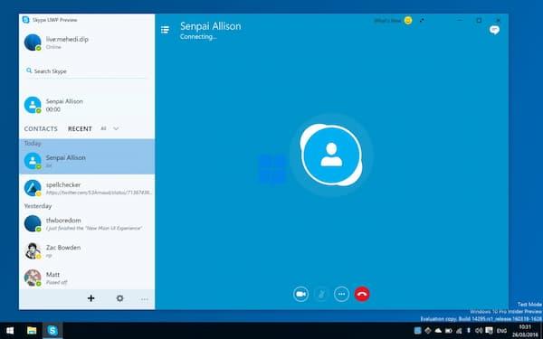Interfejs Skype