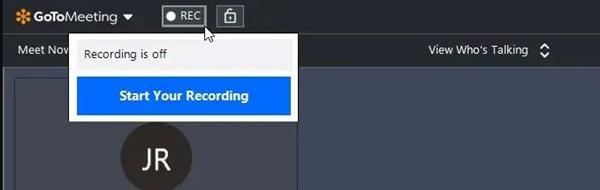 GoToMeeting يبدأ التسجيل