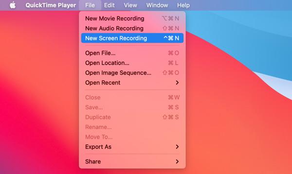 برنامج QuickTime لتسجيل الشاشة الجديد