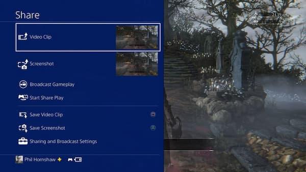 Przeglądaj nagrane rozgrywki PS4