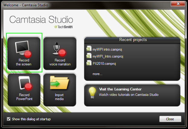Camtasia Screen Capture