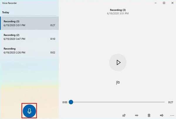 Dyktafon systemu Windows 10