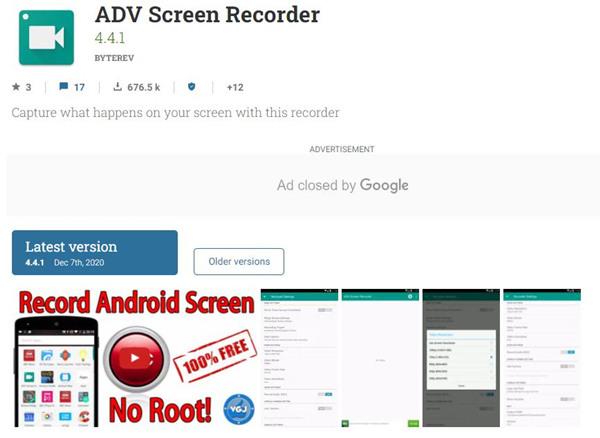 Úvod do rekordéru obrazovky ADV